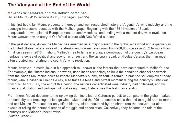 Reviews The Vineyard At The End Of The World